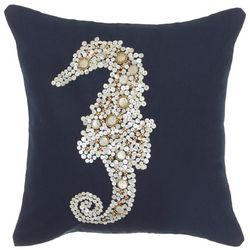 Debage Beaded Seahorse Decorative Pillow