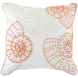 Debage Beaded Shells Decorative Pillow