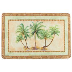 Emerald Palm Trees Cushioned Mat