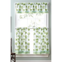 CHF Destinations 3-pc. Tropical Palm Window Valance Set