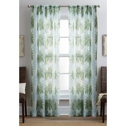 CHF Destinations 2-pc. Palm Tree Sheer Curtain Panel Set