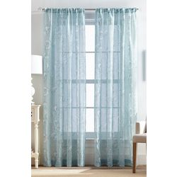 CHF Destinations 2-pc. Shells Sheer Curtain Panel Set