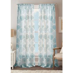 CHF Destinations 2-pc. Coral Reef Sheer Curtain Panel Set