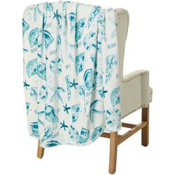 Coastal Home Sea Coast Velvet Plush Throw