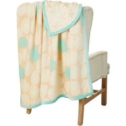 Cosatal Home Shell & Starfish Reversible Velvet Plush Throw