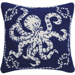 Peking Handicraft Octopus Hooked Decorative Pillow