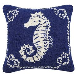 Peking Handicraft Seahorse Hooked Decorative Pillow