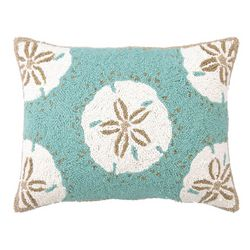 Peking Handicraft Sand Dollar II Hooked Decorative Pillow