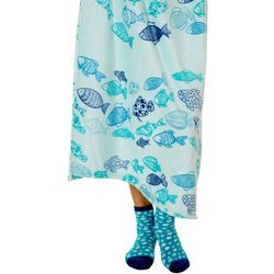 Coastal Home School of Fish Throw & Sock Set
