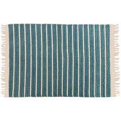 Homewear Striped Corin Hemp Accent Rug