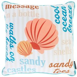 Homewear Coastal Sentiments Decorative Pillow