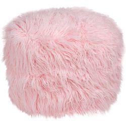 Brentwood  Mongolian Fur Pouf Decorative Pillow