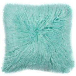 Brentwood 16'' x 16'' Angora Fur Decorative Pillow