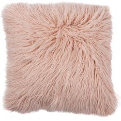 Brentwood 18'' x 18'' Mongolian Fur Decorative Pillow