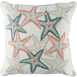 Deborah Connolly Fun Starfish Embroidered Decorative Pillow