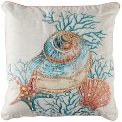 Deborah Connolly Seashell Vibe Embroidered Decorative Pillow