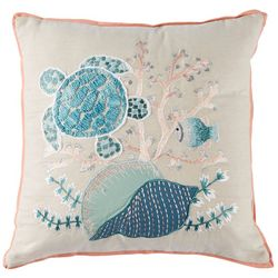 Deborah Connolly Ocean Sparkle Embroidered Decorative Pillow
