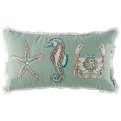 Deborah Connolly Magic Sealife Embellished Decorative Pillow