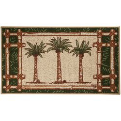 Bacova Oasis Palm Tree Trio Berber Rug