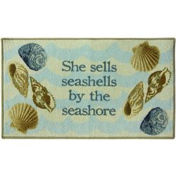 Bacova Sea Shells Rectangular Accent Rug