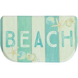 Bacova Beach Sign Memory Foam Slice Mat