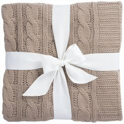 S.L. Home Fashions Cable Knit Throw