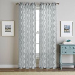 S.L. Home Fashions 2-pk. Tyler Jacquard Curtain Panel Set
