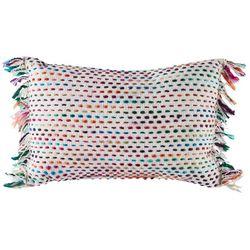 Arlee Rainbow Fringe Decorative Pillow