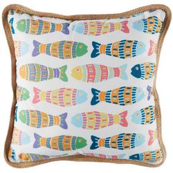 Arlee School Of Mosaic Fish Decorative Pillow