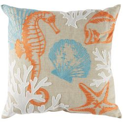 Arlee Seahorse Reef Decorative Pillow