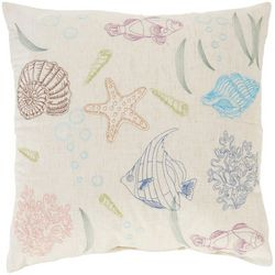 Arlee Aquatic Sketch Decorative Pillow