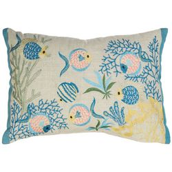 Arlee Fish Pond Decorative Pillow