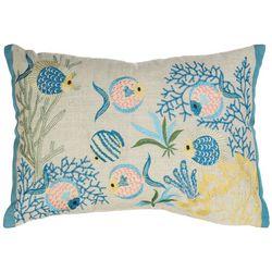 Arlee Fish Pond Decorative Pillow