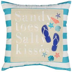 Arlee Sandy Toes Salty Kisses Decorative Pillow
