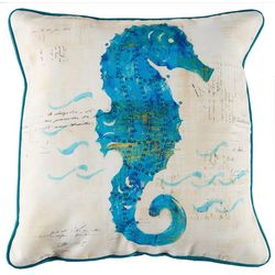 Arlee Painted Seahorse Decorative Pillow