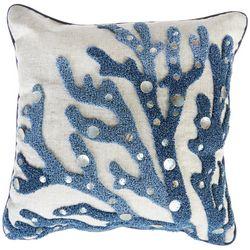 Arlee Crewel Coral Decorative Pillow