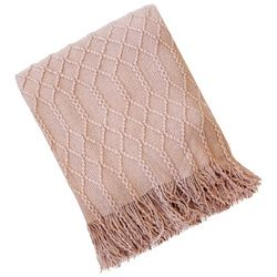 Arlee Solid Diamond Throw