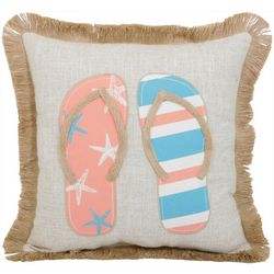 Arlee Beach Flip Flop Decorative Pillow