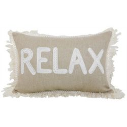 Arlee Relax Fringe Decorative Pillow