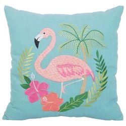 Arlee Flamingo Hibiscus Decorative Pillow
