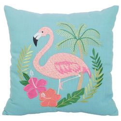 Arlee Flamingo Hibiscus Decorative Pillow