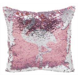 Arlee Flamingo Sequin Decorative Pillow