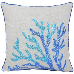 Arlee Sequin Coral Decorative Pillow