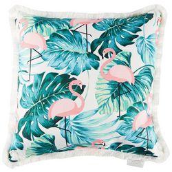 Home Fashion Flamingo & Palm Decorative Pillow