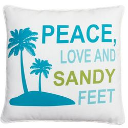 Thro Peace Love Sandy Feet Decorative Pillow