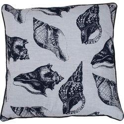 Thro Virginia Seashell Decorative Pillow