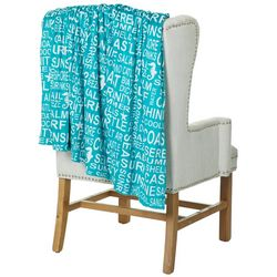 Thro Wendy Words Brushed Throw Blanket