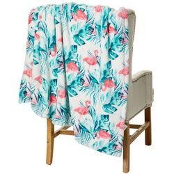 Thro Fiona Flamingo Fleece Decorative Throw