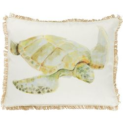 Thro Brenda Turtle Watercolor Decorative Pillow