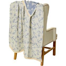 Mod Lifestyles Anchor Print Throw